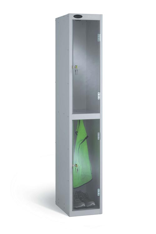 Clear Two Door Security Locker
