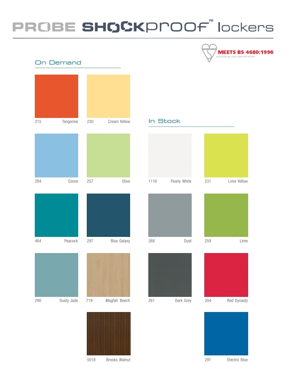Shockproof Laminate Colours Locker Shop Uk
