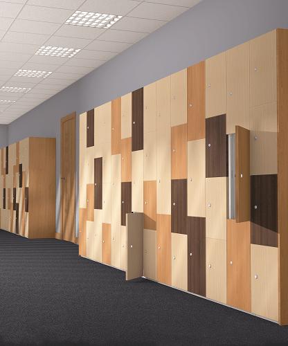 Timber Effect Lockers