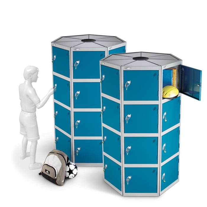 Space Saving Circular Locker Pods