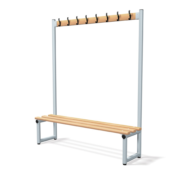 Single Sided Bench Integrated Hook Board - Type D