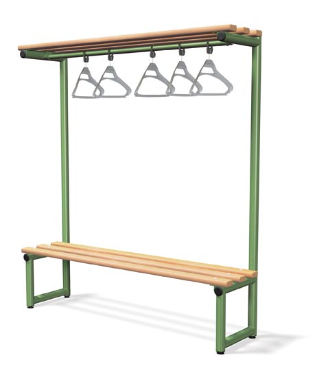 Single Sided Bench Integrated Cloak Hanger -Type G