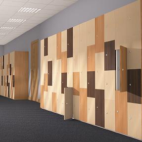 TIMBERBOX Timber Effect Lockers