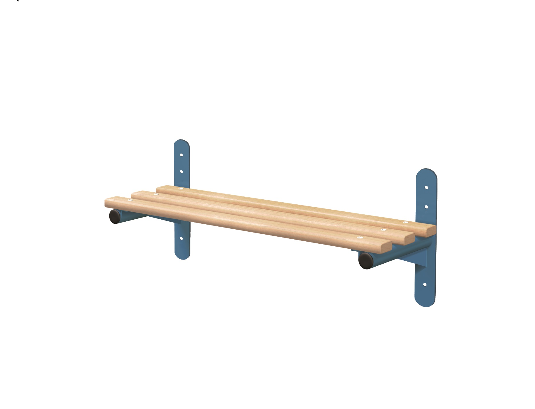 1 Wall Mounted Cloakroom Bench- Type F