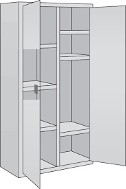8 Comp Medical Cabinet - 6 Adj Shelves