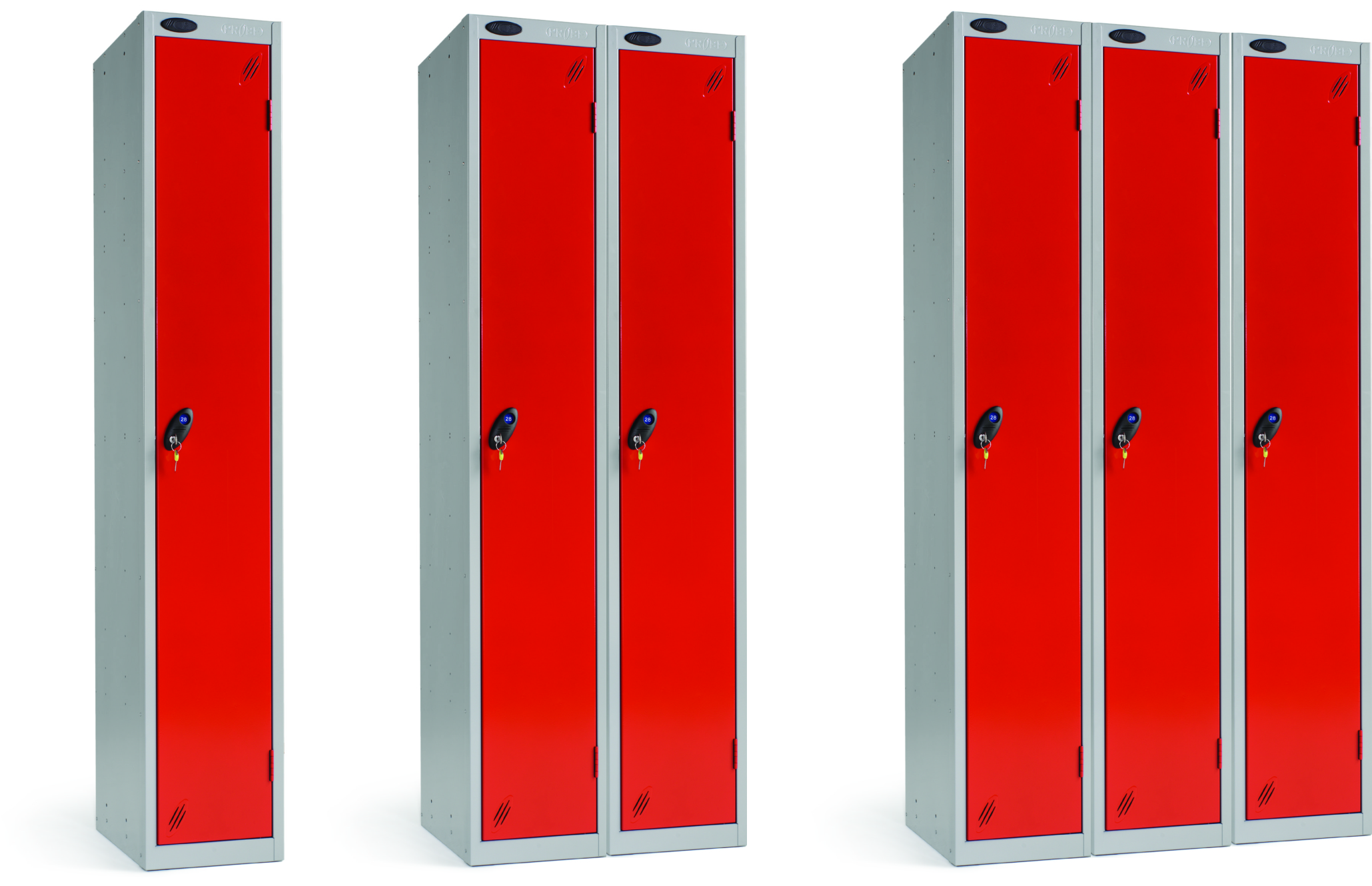 Colour Range Two Compartments Locker