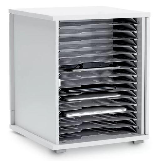 Lyte Single Door 16 Metal Shelf Static Unit