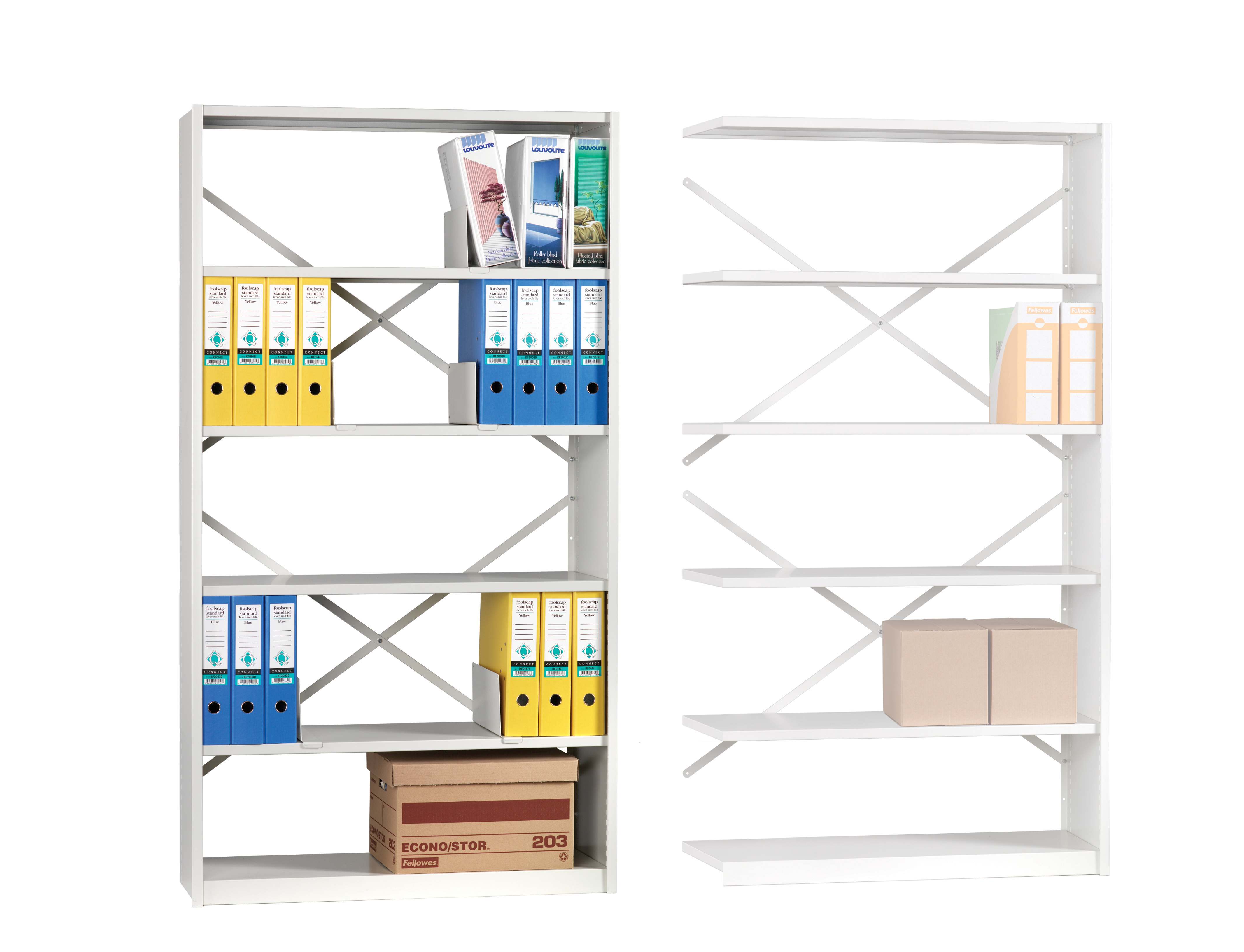 Mistral  EXTENSION BAY  CLAD  6 Shelves 400mm Deep