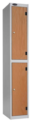 2 Compartments Shockproof Lockers -  Inset Door