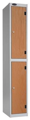 2 Compartments Shockproof Lockers -  Inset Door
