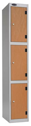 3 Compartments Shockproof Lockers -  Inset Door