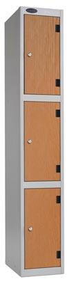 3 Compartments Shockproof Lockers -  Inset Door