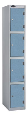 4 Compartments Shockproof Lockers -  Inset Door