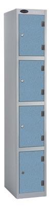 4 Compartments Shockproof Lockers -  Inset Door