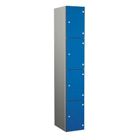 ZENBOX Aluminium Four Compartment Locker