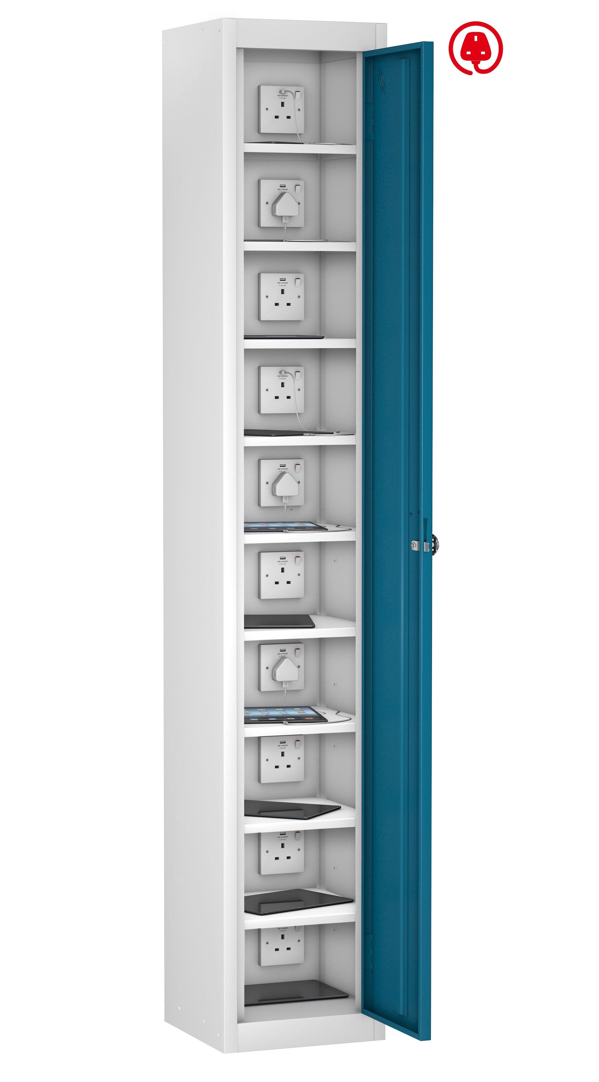 Mobile Phone Locker Single Door 10 Shelf Charging