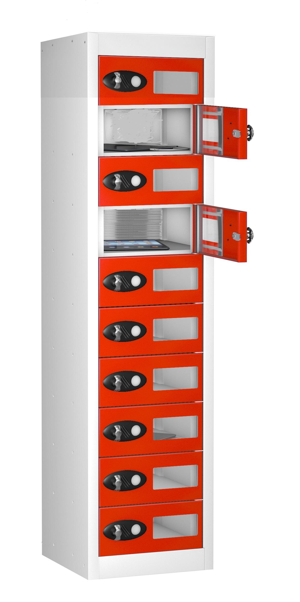 VISION PANEL Mobile Phone Storage Locker -10 Doors (Non Charging)