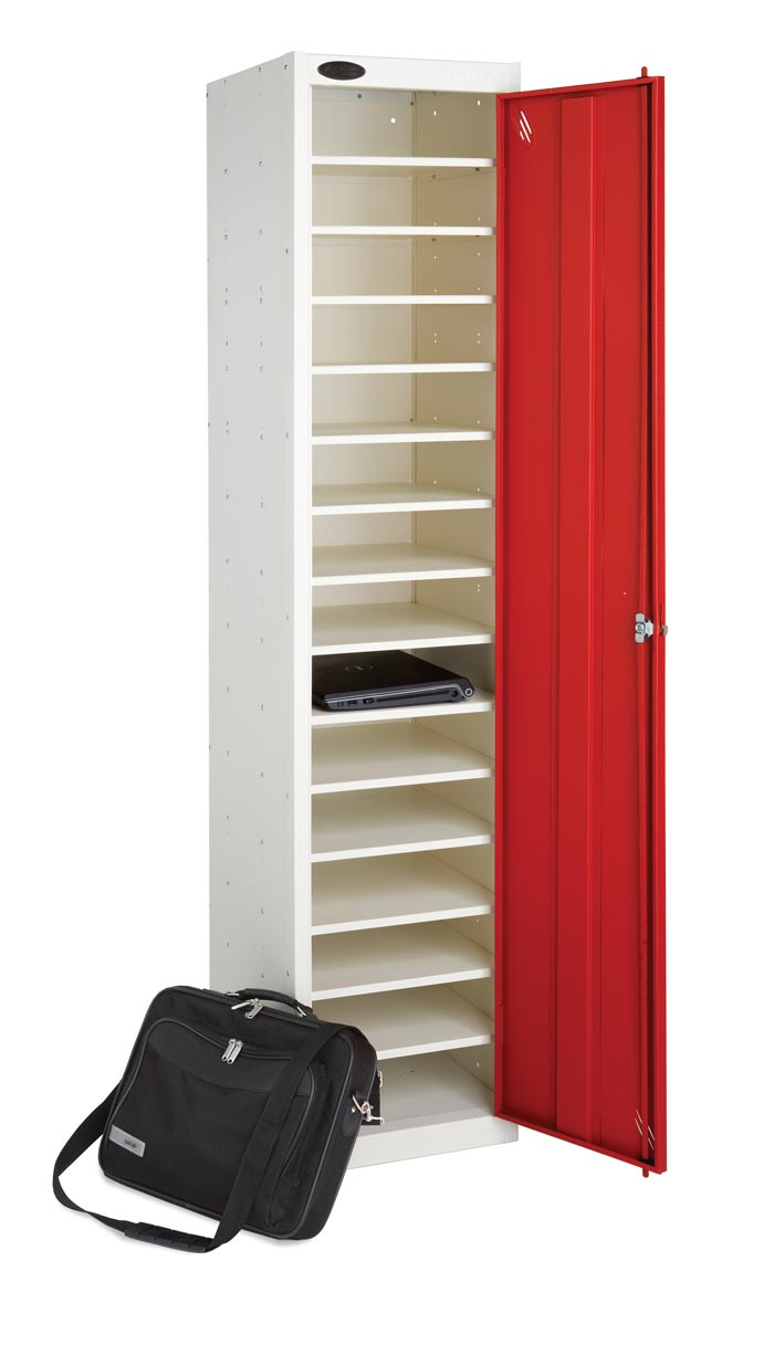 Laptop Charging Locker - Single Door 15 Shelves. Sch