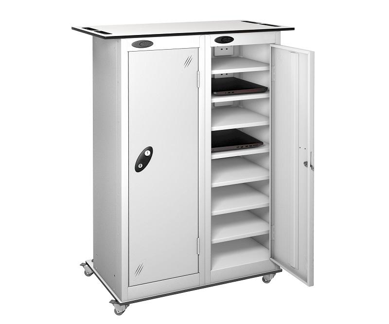CHARGING Trolley - TABLET Storage Locker -16 Compartment - 2 Doors