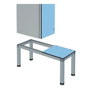 ZENBOX Aluminium Locker 400mm Seat Bench Stands