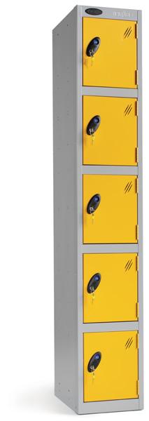 Five Compartments Locker