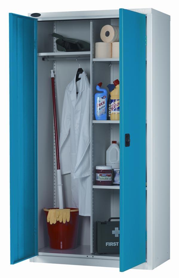Industrial Cupboard 3 Adjustable Shelves Hanging Locker