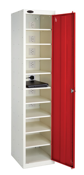 Laptop Charge and Store Locker -Single Door 10 Shelf