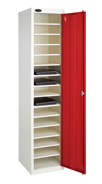 Laptop Storage Locker -Sgl Door 15 Shelves  (Non Charge)