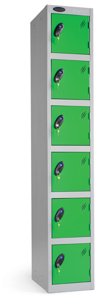 Six Compartments Locker
