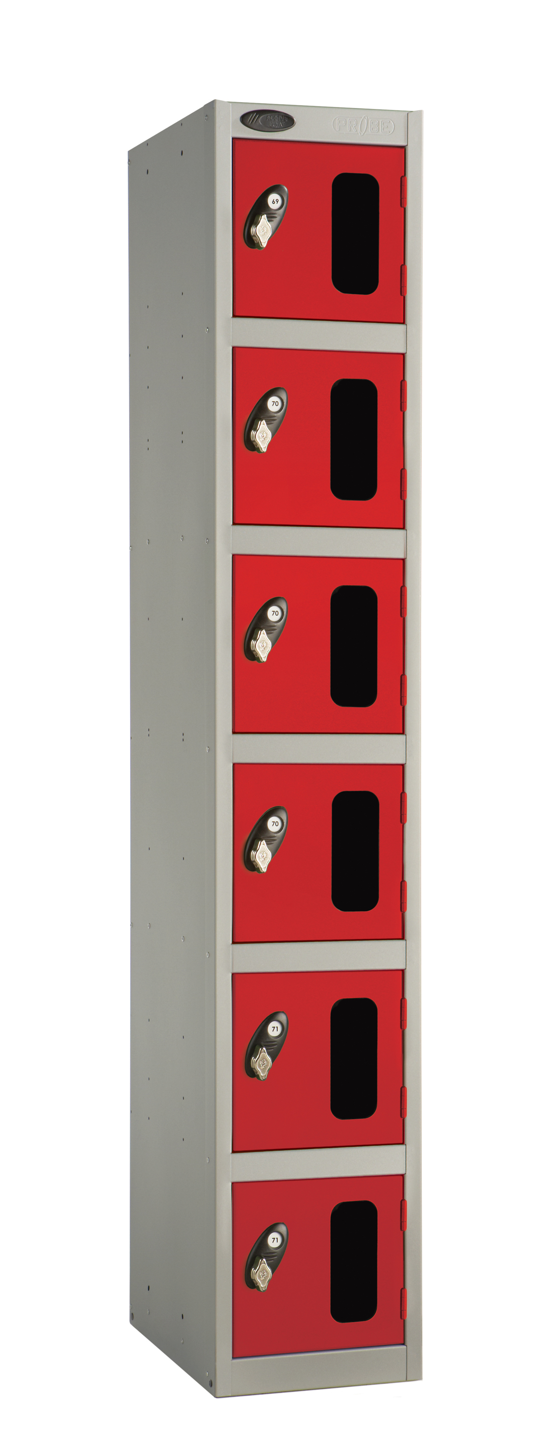 Six Compartment Vision Panel Security Locker