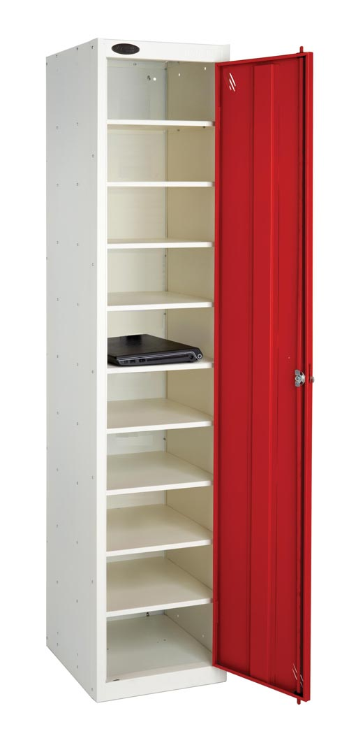 Laptop Locker Sgle Dr 10 Shelf - Non Charge