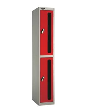 Two Compartments Vision Panel Security Locker
