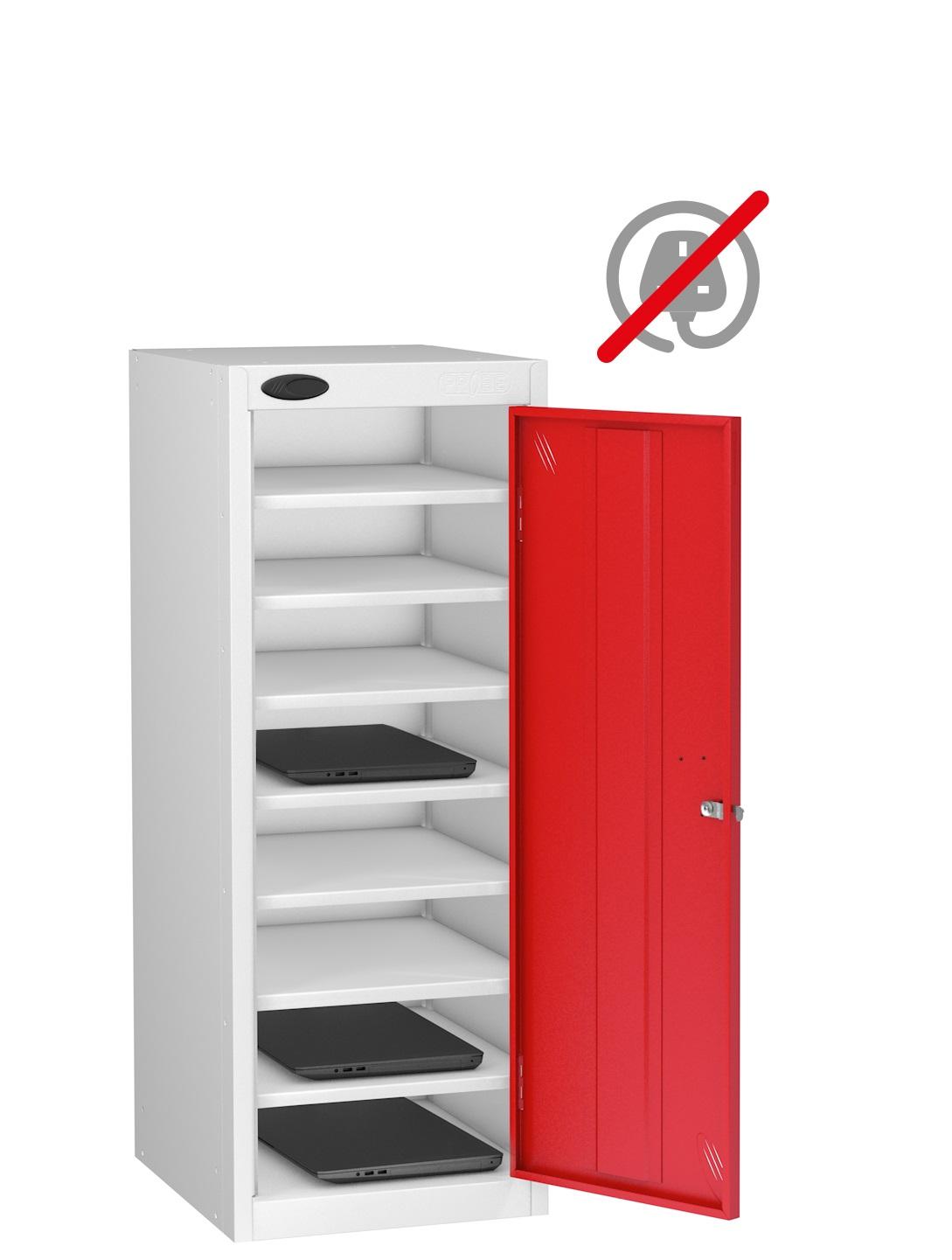 LOW Laptop Locker Sgle Dr 8 Shelf - Non Charge