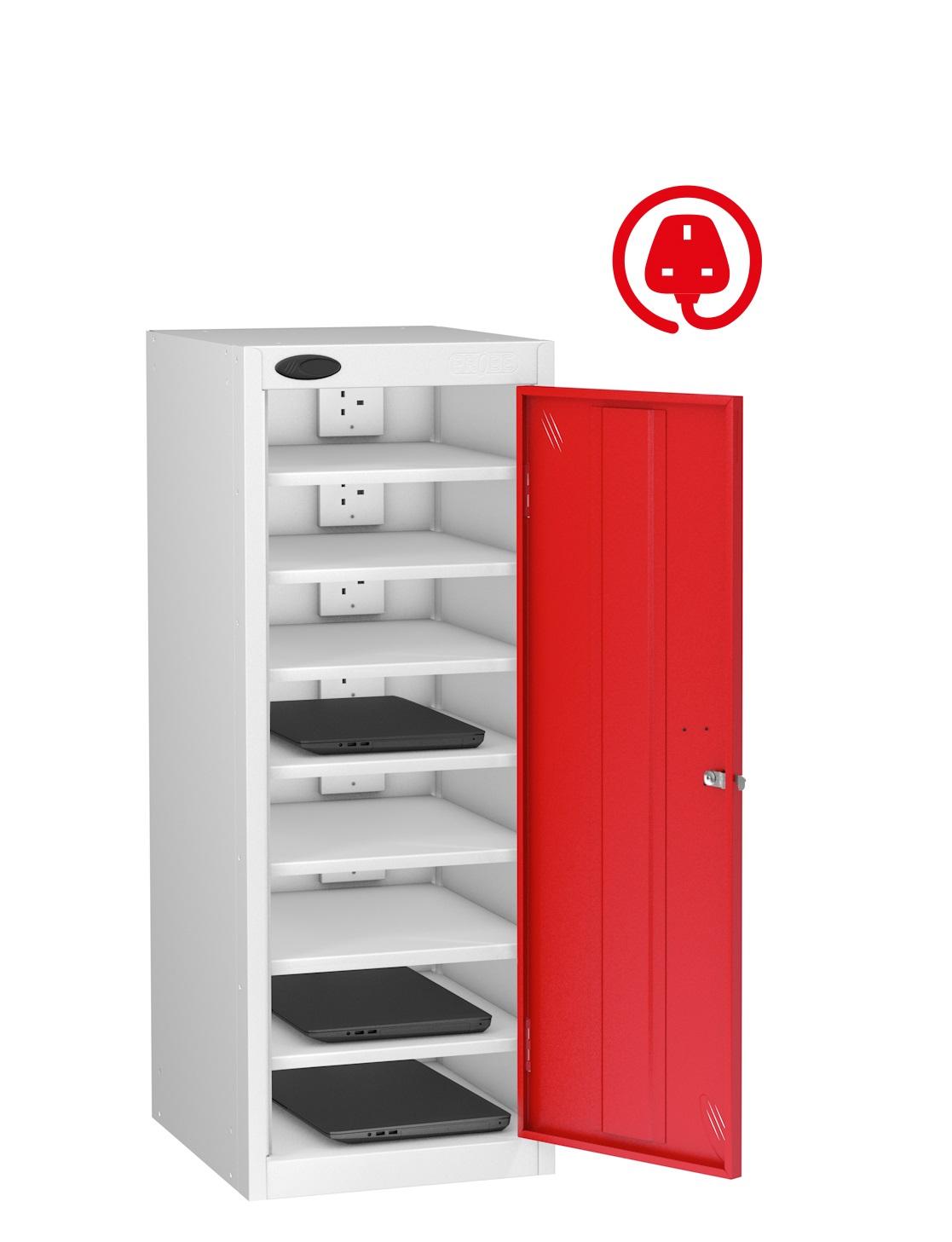 LOW Laptop Charge and Store Locker -Single Door 8 Shelf