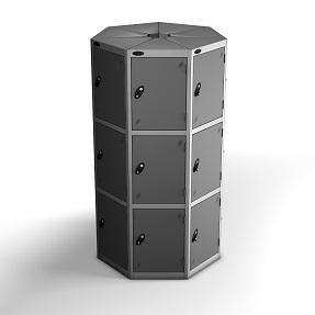 7 Pods 3 Doors Locker - Total 21 Compartments