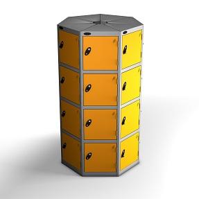 7 Pods 4 Doors Locker - Total 28 Compartments