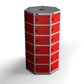 7 Pods 6 Doors Locker - Total 42 Compartments