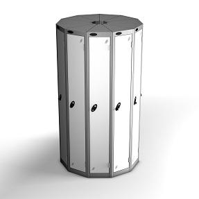 11 Pods 1 Door Locker - Total 11 Compartments