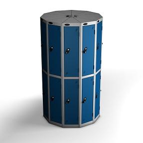 11 Pods 2 Door Locker - Total 22 Compartments