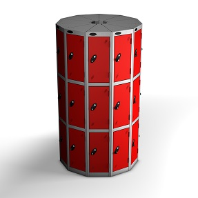 11 Pods 3 Doors Locker - Total 33 Compartments
