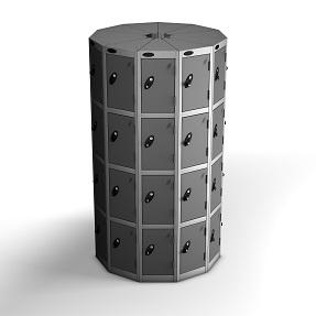 11 Pods 4 Doors Locker - Total 44 Compartments