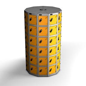 11 Pods 6 Doors Locker-total 66 Compartments