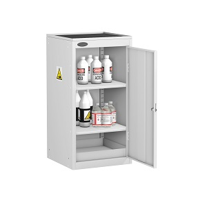 Small Acid Alkali Cabinet Dish Top 2 Shelves