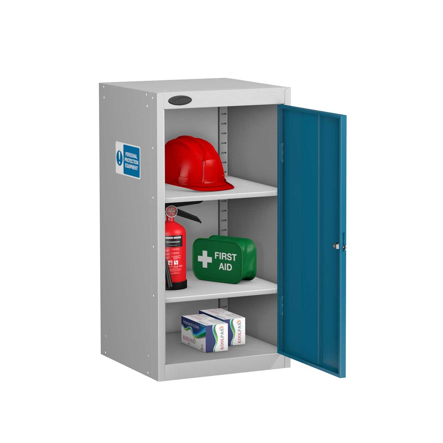 Small PPE Cabinet 2 Shelves