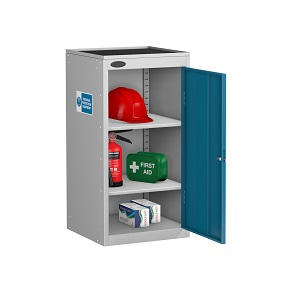 Small PPE Cabinet Dish Top 2 Shelves