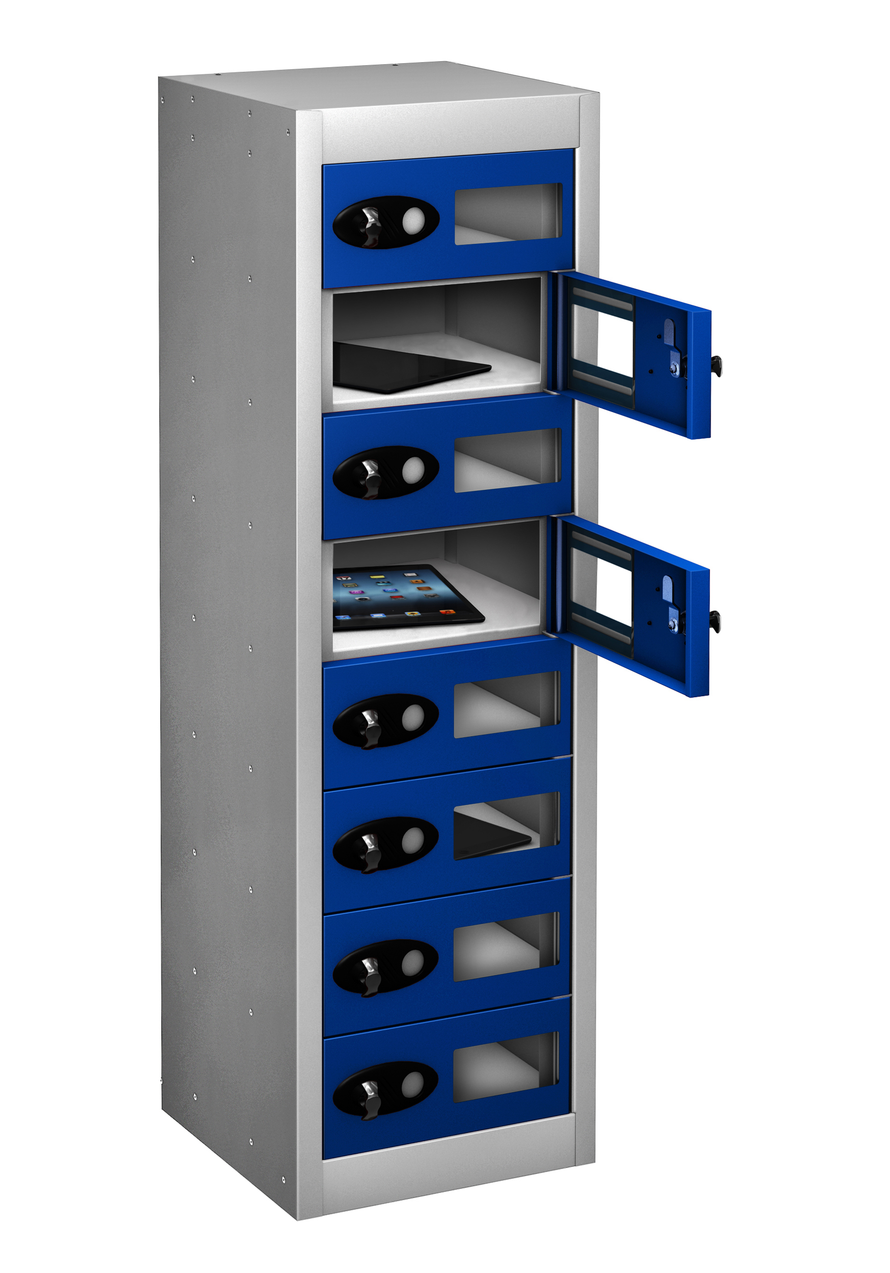Low Vision Panel TABLET Storage Locker - 8 Doors (Non Charging)