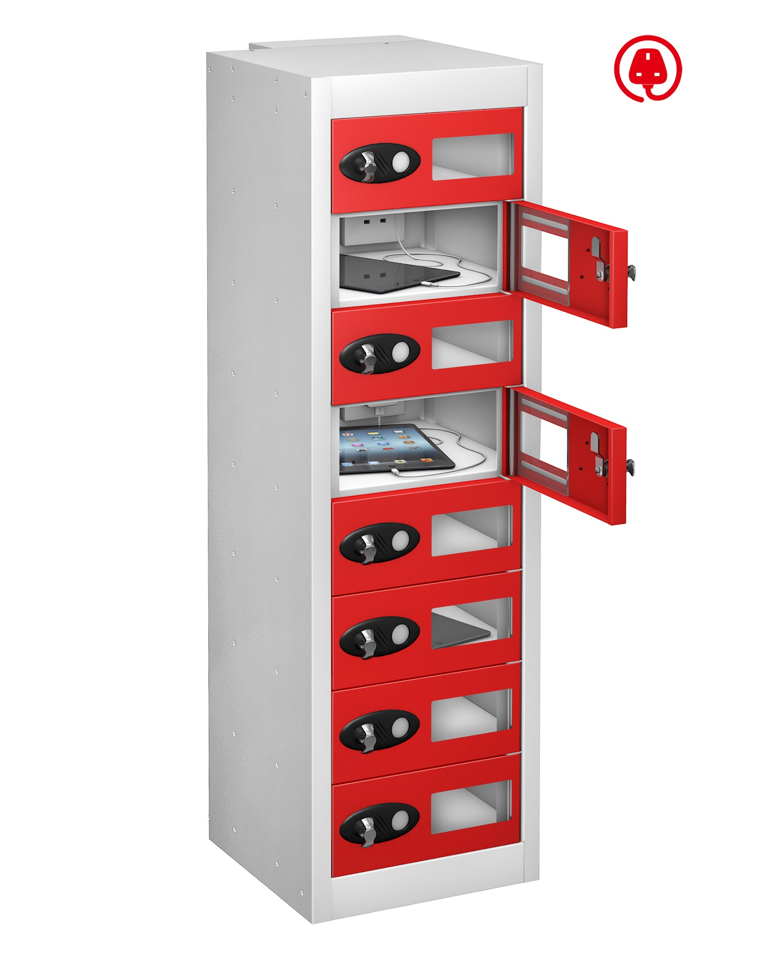 Low Vision Panel Tablet Charge and Store Locker -8 Doors (Charging)