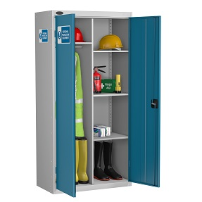 PPE Cupboard Wardrobe 3 Shelves and Rail