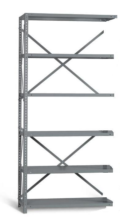 Industrial Angle EXT BAY 6 Shelves 24 inch Depth