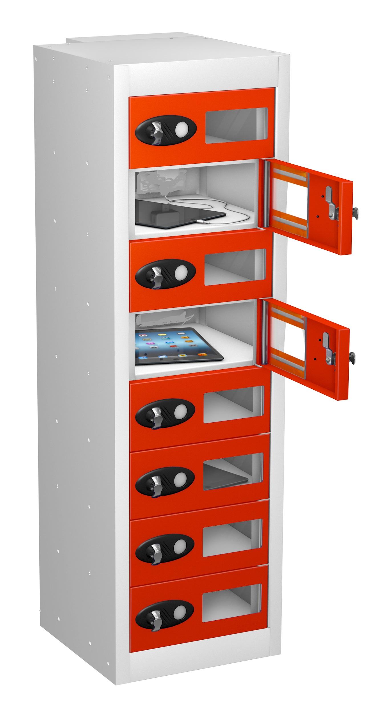 Vision Panel 8 Door LOW Mobile Phone Locker-NON CHARGING